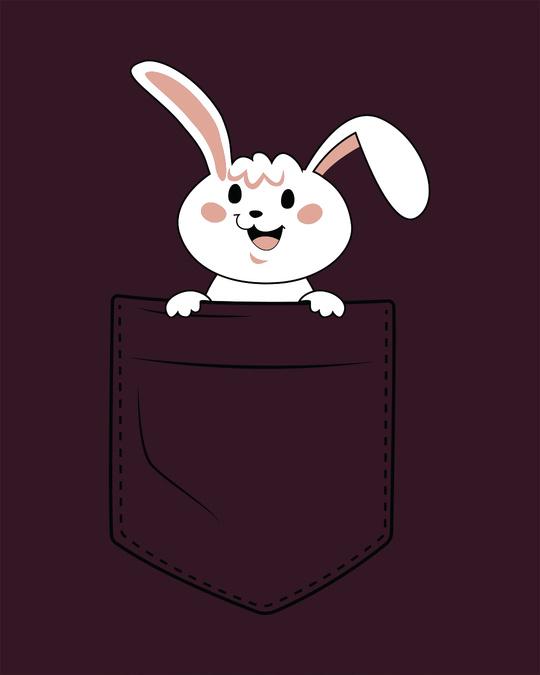Shop Peeping Bunny Scoop Neck Full Sleeve T-Shirt