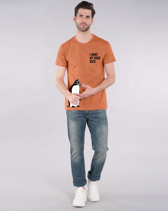 Shop Penguin D-day Half Sleeve T-Shirt Vintage Orange-Design