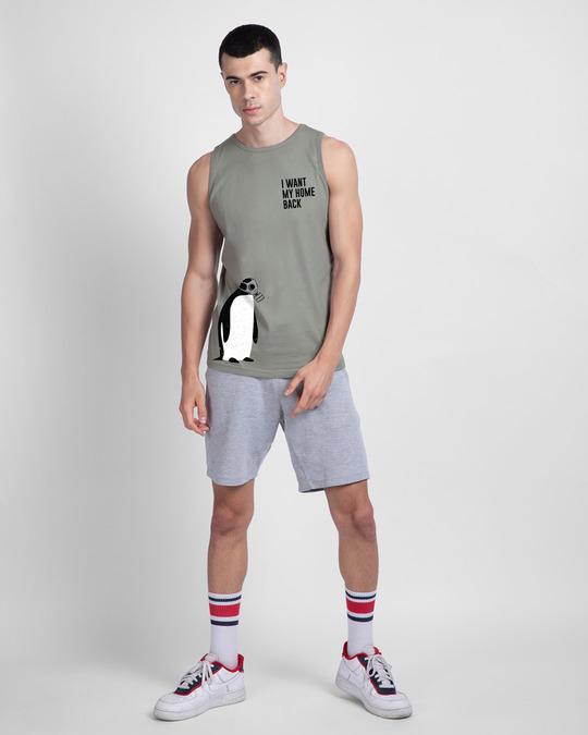 Shop Penguin D-day Round Neck Vest Meteor Grey-Design