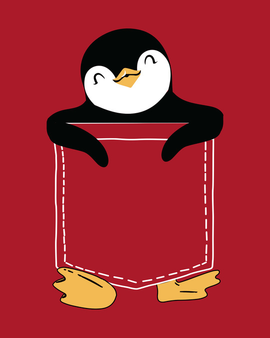 Shop Penguin Hug Boyfriend T-Shirt
