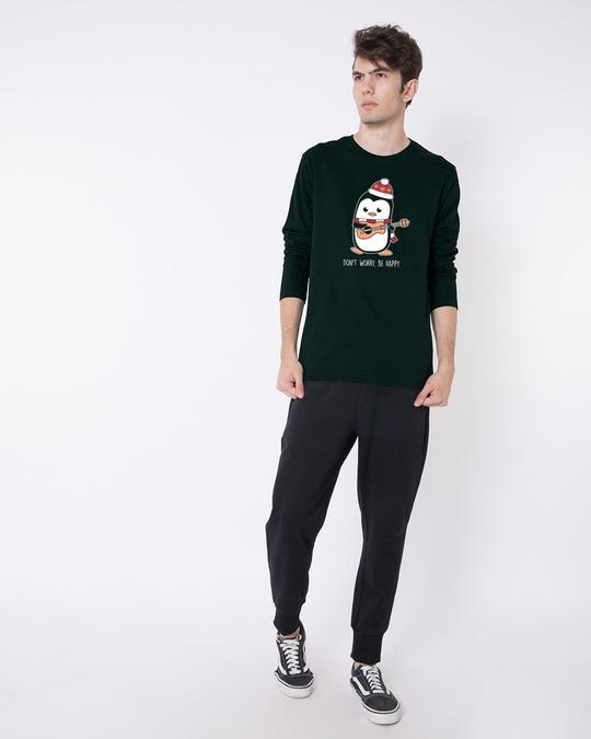 Shop Penguin Mandolin Full Sleeve T-Shirt