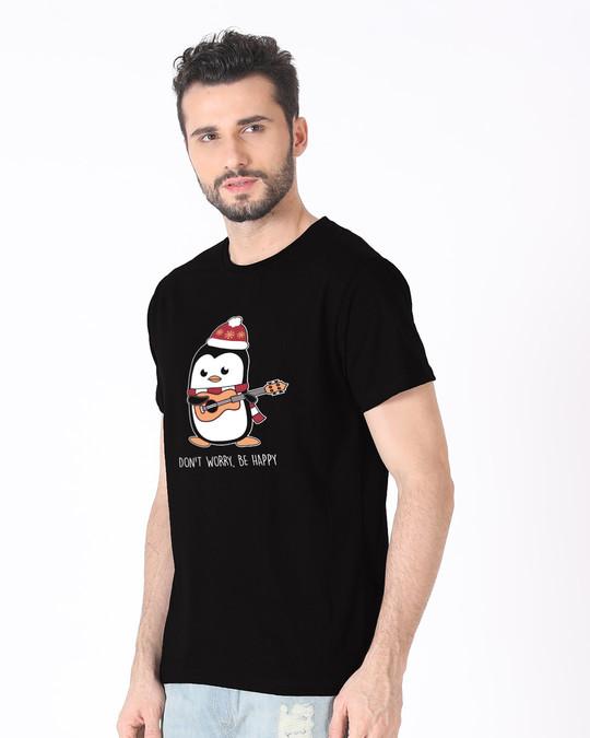 Shop Penguin Mandolin Half Sleeve T-Shirt-Full