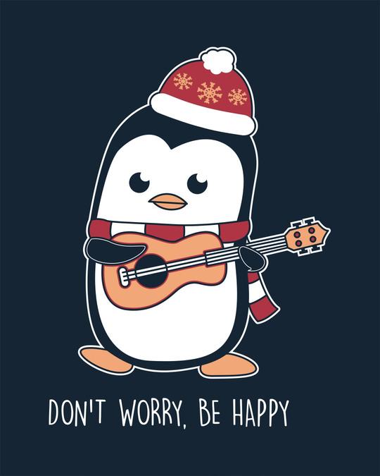 Shop Penguin Mandolin Half Sleeve T-Shirt