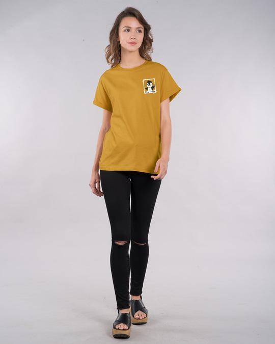 Shop Penguin Polaroid Boyfriend T-Shirt-Full