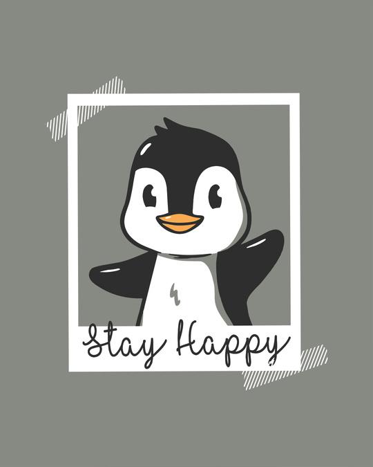 Shop Penguin Polaroid Half Sleeve T-Shirt