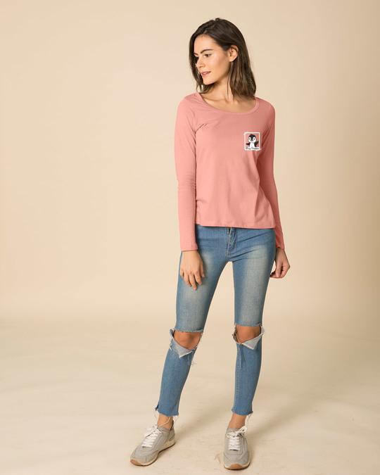 Shop Penguin Polaroid Scoop Neck Full Sleeve T-Shirt-Full