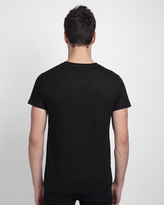 Shop Pepper Typo Half Sleeve T-Shirt-Back