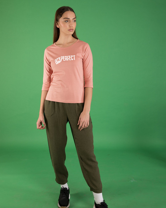 Shop Perfect Round Neck 3/4th Sleeve T-Shirt-Full