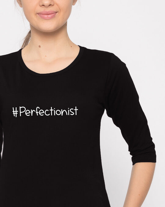 Shop Perfectionist Round Neck 3/4th Sleeve T-Shirt-Front