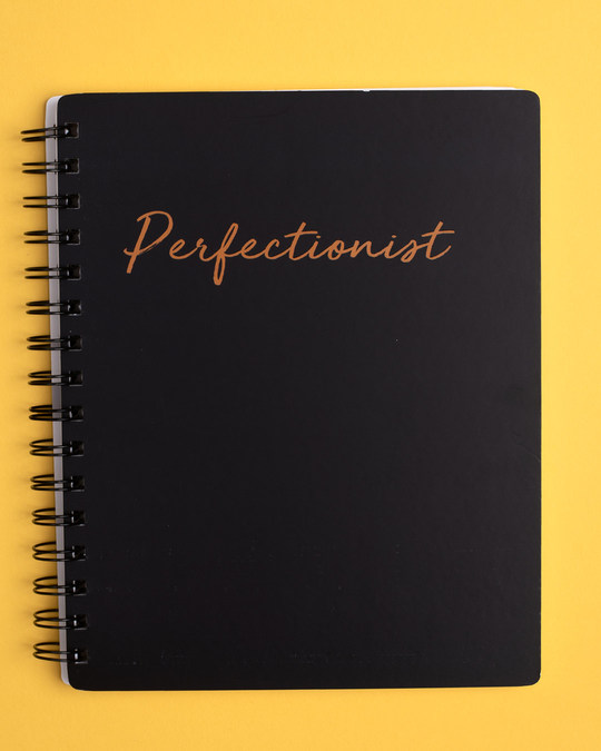 Shop Perfectionist Spiral Notebook-Front