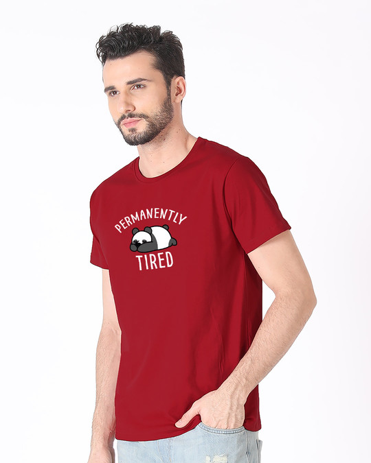 Shop Permanently Tired Half Sleeve T-Shirt-Design
