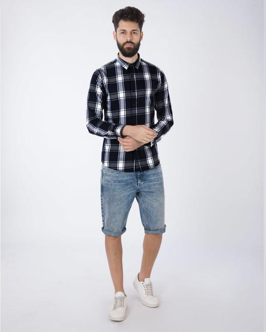 Shop Persian Blue Checked Full Sleeve Shirt-Full