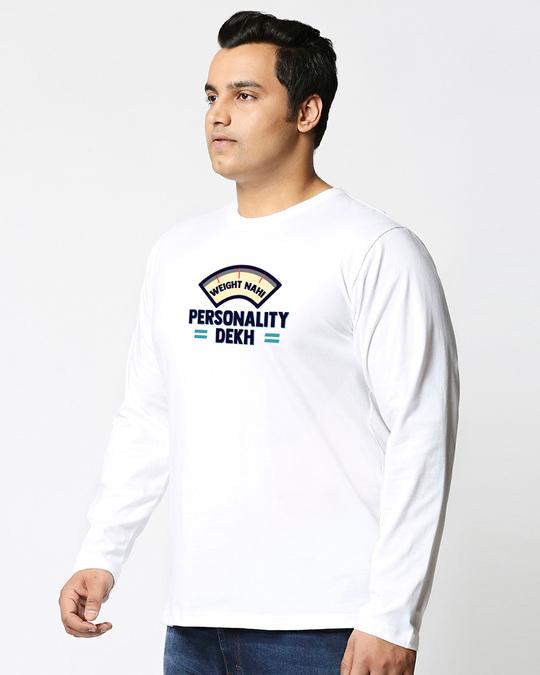 Shop Personality Dekh Full Sleeves Plus Size T-Shirt-Back