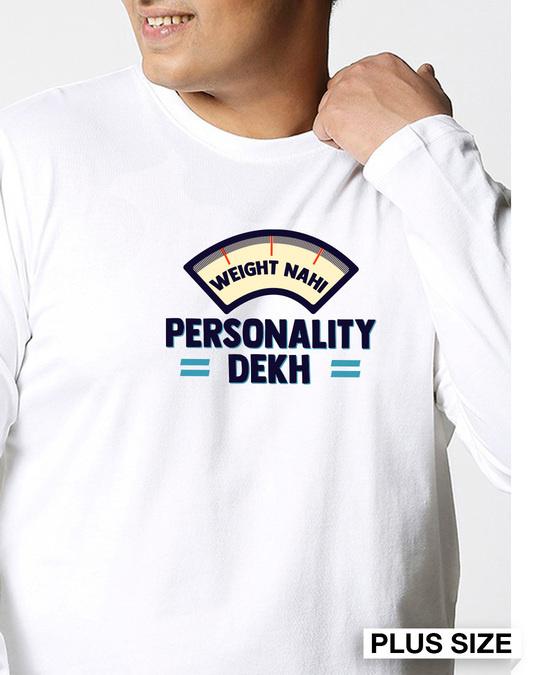 Shop Personality Dekh Full Sleeves Plus Size T-Shirt