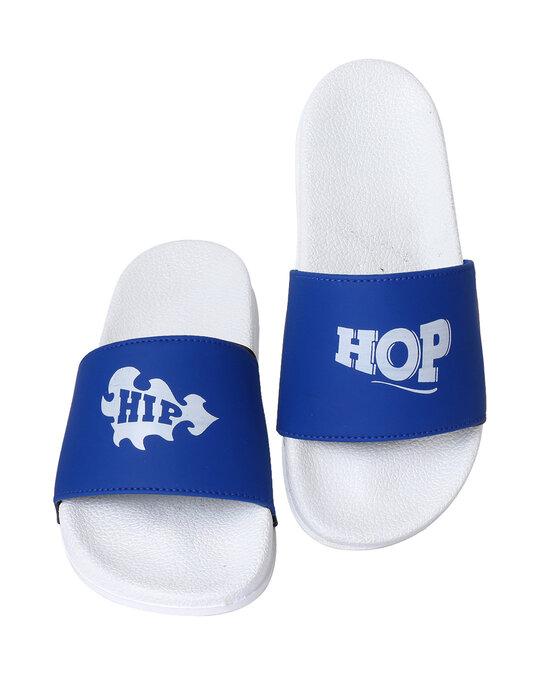Shop Pery-Pao Latest Mens Blue Flip Flops-Front