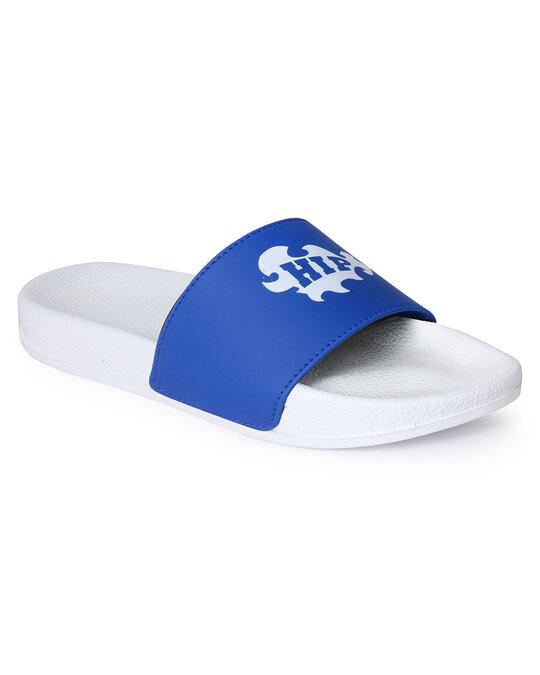 Shop Pery-Pao Latest Mens Blue Flip Flops-Back
