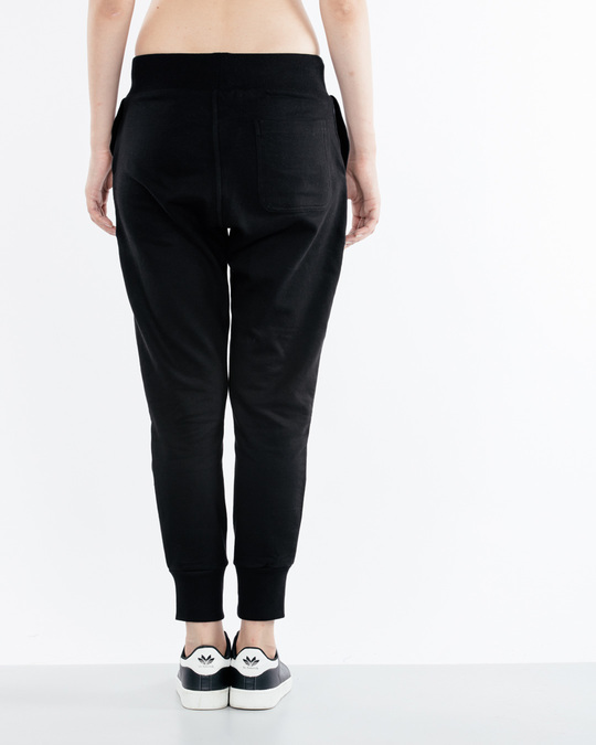Shop Jet Black Fleece Joggers-Design