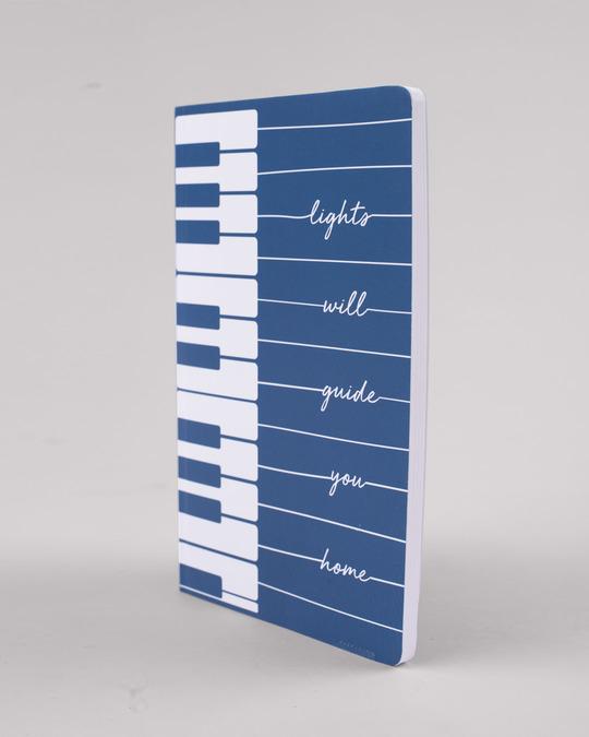 Shop Piano Lights Notebook-Back