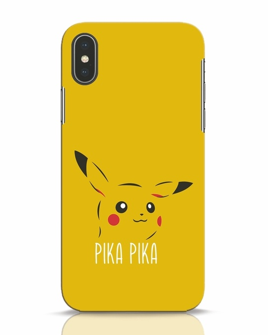 Shop Pika Pika iPhone X Mobile Cover-Front