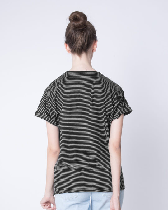 Shop Pin Stripes Boyfriend T-Shirt-Full
