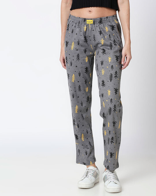 Shop Pine Forest Grey Knitted Pyjamas-Front
