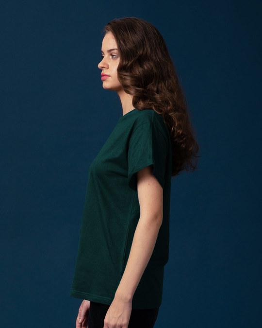 Shop Pine Green Boyfriend T-Shirt-Back