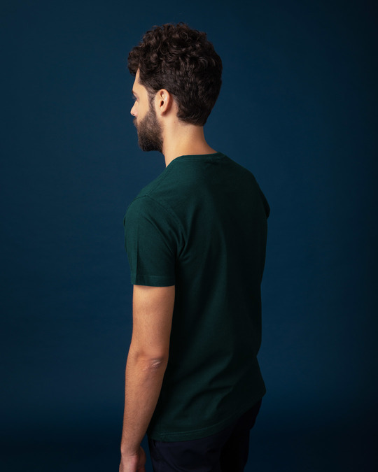 Shop Pine Green Half Sleeve T-Shirt-Full