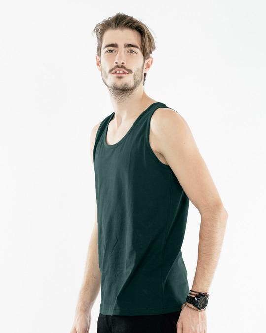 Shop Pine Green Vest-Back