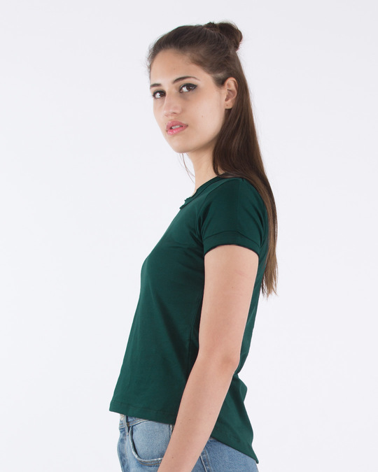 Shop Pine Green Raw Edge T-Shirt-Back