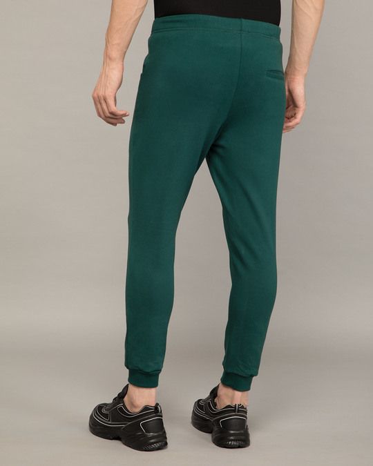 Shop Pine Green Round Pocket Joggers Pants-Design