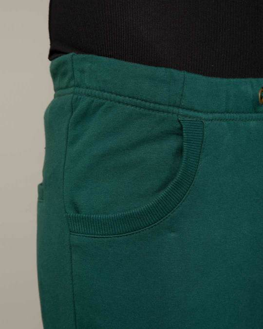 Shop Pine Green Round Pocket Joggers Pants