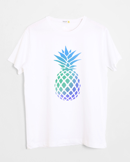 Shop Pineapple Colors Half Sleeve T-Shirt-Front