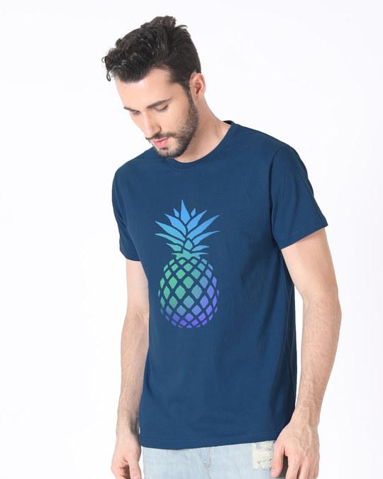 Shop Pineapple Colors Half Sleeve T-Shirt-Design