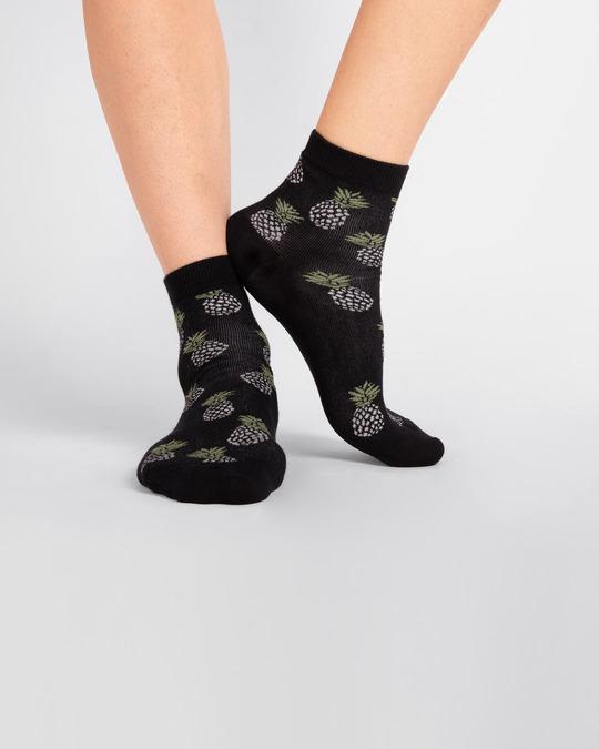 Shop Men's Pineapple Squash Ankle Length Socks-Design