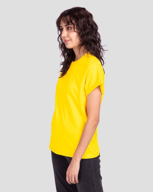 Shop Pineapple Yellow Boyfriend T-Shirt-Back