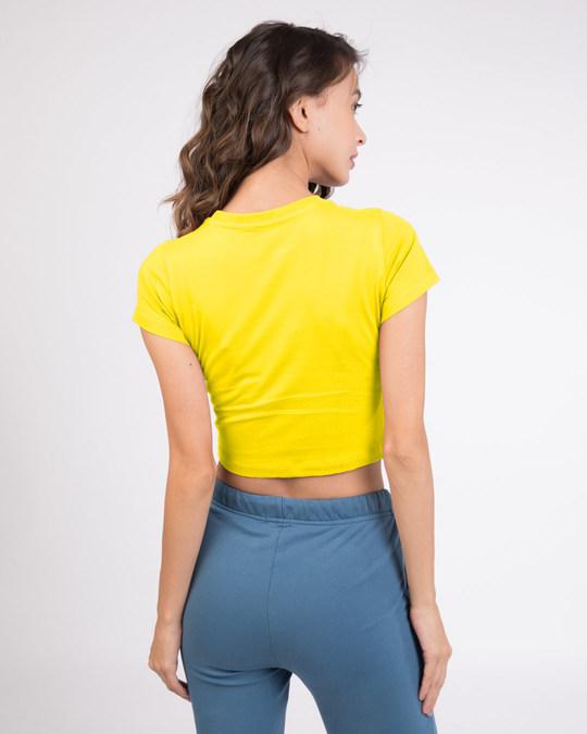 Shop Pineapple Yellow  Crop Top T-Shirt-Design