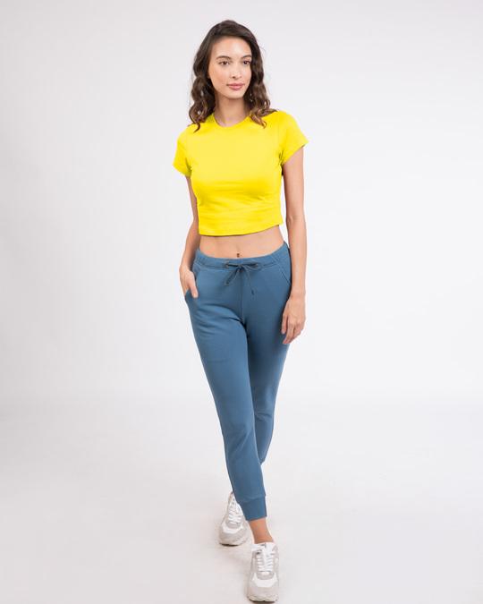 Shop Pineapple Yellow  Crop Top T-Shirt-Full