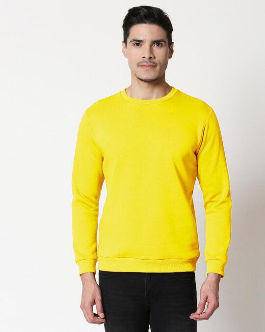 Shop Pineapple Yellow Fleece Sweater-Front