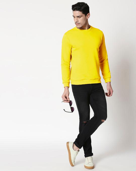 Shop Pineapple Yellow Fleece Sweater-Full