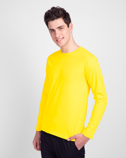 Shop Pineapple Yellow Full Sleeve T-Shirt-Back