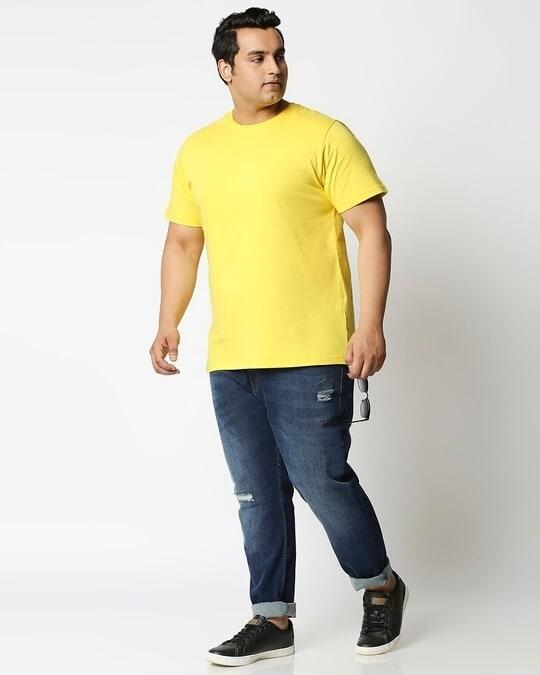 Shop Pineapple Yellow Half Sleeve Plus Size T-Shirt-Design