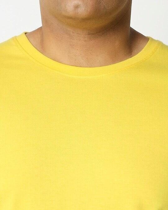 Shop Pineapple Yellow Half Sleeve Plus Size T-Shirt-Full