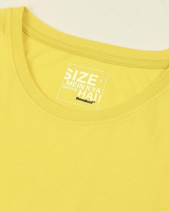 Shop Pineapple Yellow Half Sleeve Plus Size T-Shirt