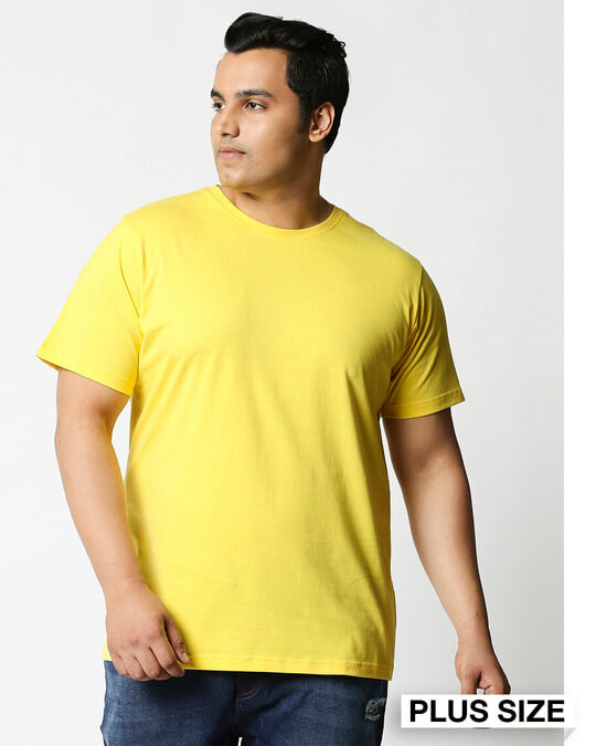 Shop Pineapple Yellow Half Sleeve Plus Size T-Shirt-Front