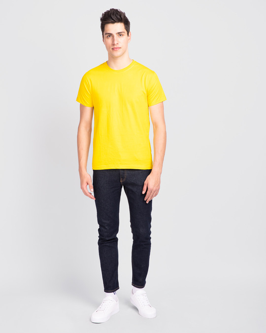 Shop Pineapple Yellow Half Sleeve T-Shirt-Full