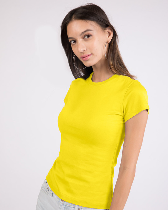Shop Pineapple Yellow Half Sleeve T-shirt-Back