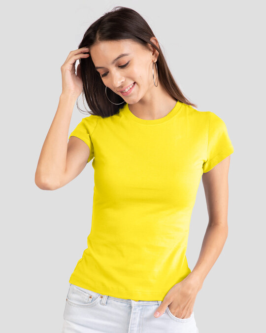 Shop Pineapple Yellow Half Sleeve T-shirt-Front