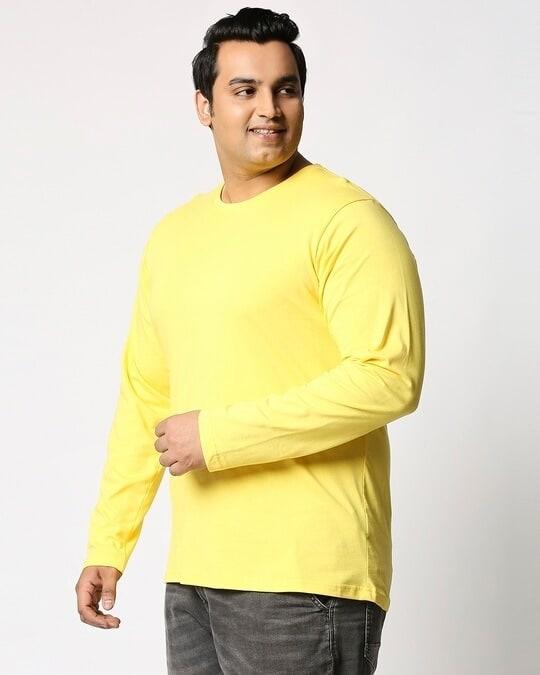 Shop Pineapple Yellow Plus Size Full Sleeve T-Shirt-Back