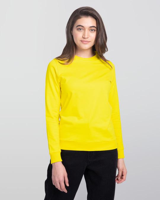 Shop Pineapple Yellow Fleece Light Sweatshirt-Front