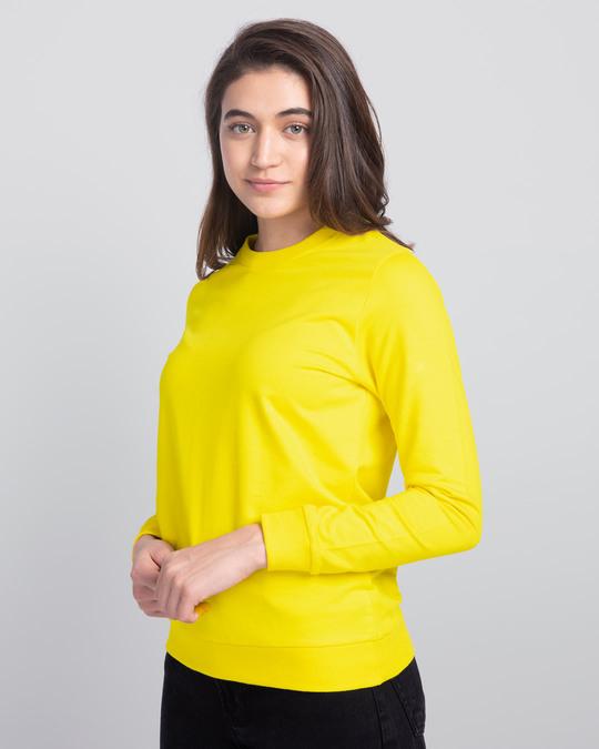 Shop Pineapple Yellow Fleece Light Sweatshirt-Back